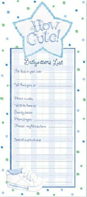 'How Cute!' Magnetic Babysitter's List – Blue