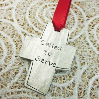 Called to Serve Pewter Ornament