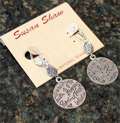 Handcast Silver Charm Earrings
