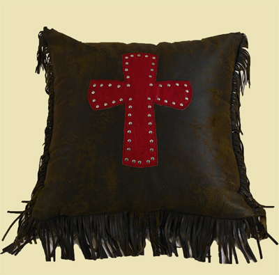 Cheyenne Cross Pillow – Red