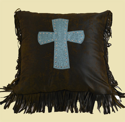 Cheyenne Cross Pillow – Turquoise