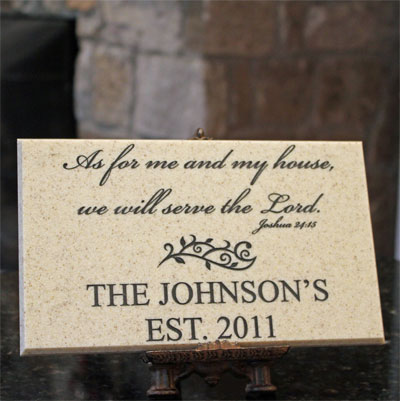 Personalized Family Name Plaque with Joshua 24:15