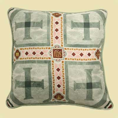 Jerusalem Cross - Washington National Cathedral Silk Pillow