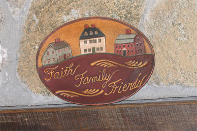 Faith, Family, Friends Plate