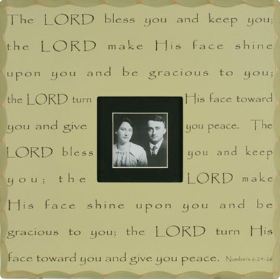 The Lord Bless You... Wall Photo Frame