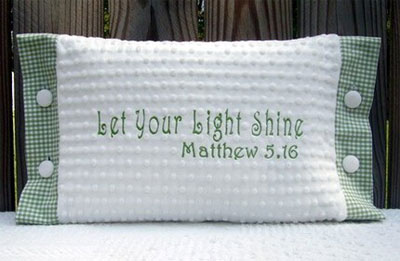 'Let Your Light Shine' Pillow for Child