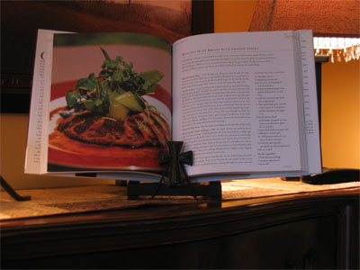 Wrought Iron Cook Book Stand