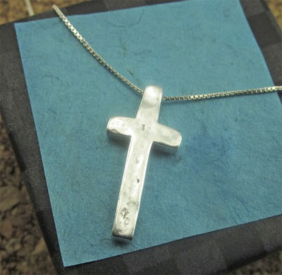 I Believe Sterling Silver Cross Pendant on Chain