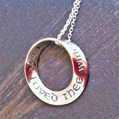 Jeremiah 31:3 Mobius Necklace ... I have loved thee...