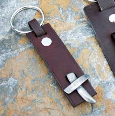 Cross Leather Key Ring