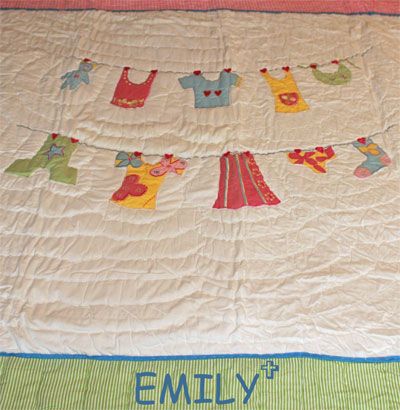 Clothesline Baby Quilt – Personalized