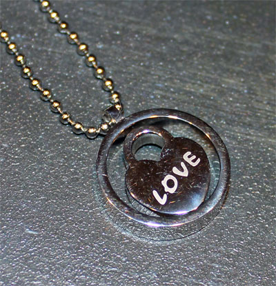 Heart Inside Circle (Spinner) Necklace