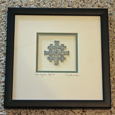 Cynthia Webb Framed Pewter Ornament – Jerusalem Cross