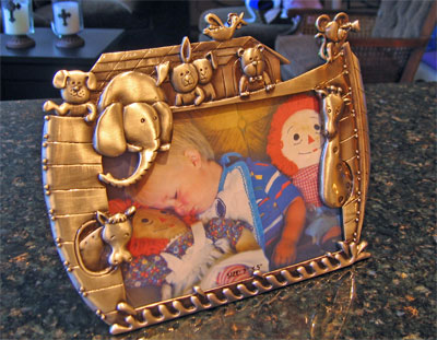 Noah's Ark Pewter Photo Frame