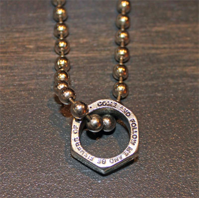 Pewter Nuts for Christ Pendant