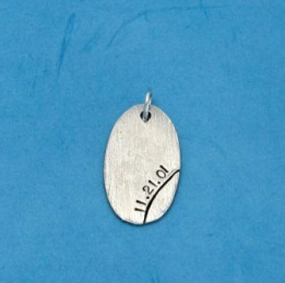 Personalized Oval Charm