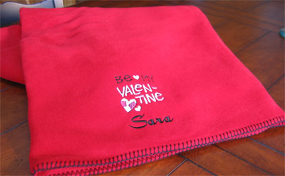 Personalized Red Valentine Blanket