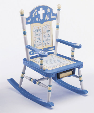 'Jesus Loves Me' Rocking Chair