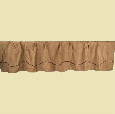 Embroidered Barbwire Valence - Light Tan