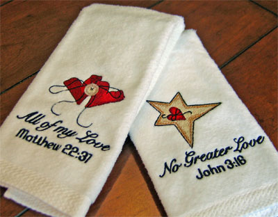 Valentine Velour Finger Towels
