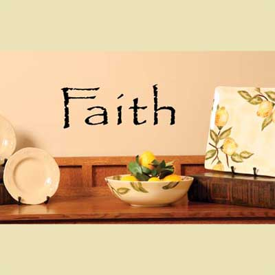 Faith Vinyl Wall Scripture