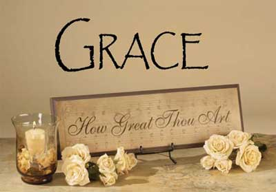 Grace Vinyl Wall Scripture