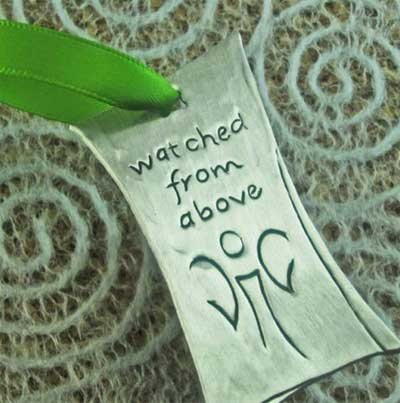 Watched from Above Pewter Ornament