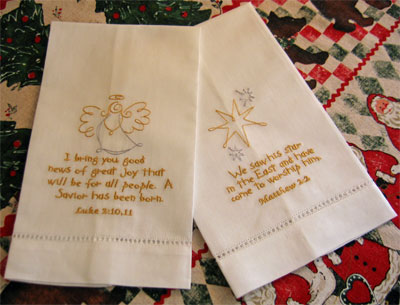 Christmas Towel Set - Silver/Gold