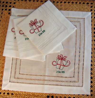 Christmas Gift Tea Napkins – Set of Four