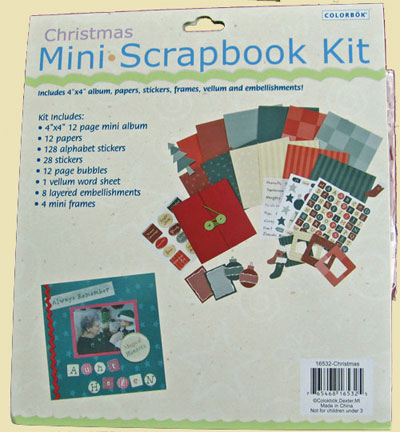 Christmas Mini Scrapbook